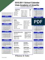 2010-2011 Calendar Amarillo