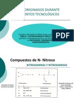 TÓXICOS ORIGINADOS DURANTE TRATAMIENTOS TECNOLÓGICOS de alimentos