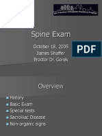 Spine Exam Lecture_Shaffer 2006