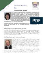 Scarborough Symposium - Presenter Profiles