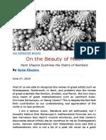 Haim Shapira -- On the Beauty of Math.docx