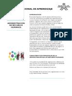 CARACTERISTICAS DE LA ADMINISTRACION DE RECURSOS HUMANOS.docx