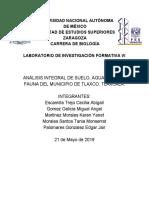 ANÁLISIS INTEGRAL DE SUELO, AGUA, FLORA Y FAUNA DEL MUNICIPIO DE TLAXCO, TLAXCALA..pdf