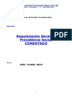 APOSTILA - Direito Previdenciário - Regulamento Geral da Previdencia Social Comentado