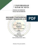 INDIVISIÓN Y PARTICIÓN SUCESORIA. CARGAS Y DEUDAS DE LA HERENCIA.docx