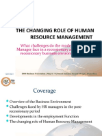 Challenges of HR managers in the Post recessionary period