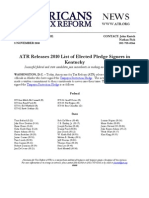 ATR Releases 2010 List for Kentucky