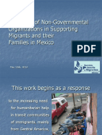The Work of NGOs with Migrants in Mexico