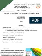 Estructura Tectonica y Estructural Del Sur Del Peru