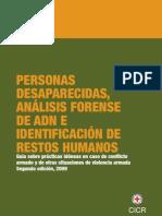 personas desaparecidas, analisis forense de adn e identificación de restos humanos