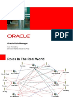 Oracle Role Management Business Level