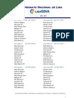 calendario LFP