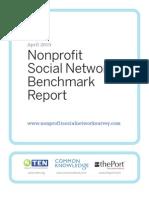 Nonprofit Social Network Survey Report