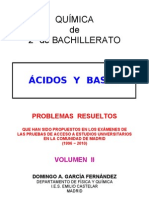 6.3 - ÁCIDOS Y BASES - PROBLEMAS RESUELTOS DE ACCESO A LA UNIVERSIDAD (II)