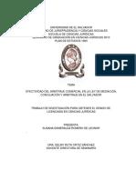EFECTIVIDAD DEL ARBITRAJE COMERCIAL EN LA LEY DE MEDIACIÓN,.docx