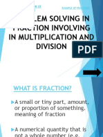 Problem Solving in Fraction Involving in Multiplication And