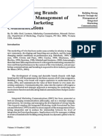 (2002). Building Strong Brands Through the Management of Integrated Marketing Communications. International Journal of Wine Marketing.pdf