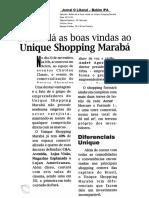 Belém dá boas vidas ao Unique Shopping Marabá