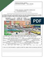 AVALIAÇÃO DE LÍNGUA INGLESA, CONTEÚDO SIMPLE PAST.pdf