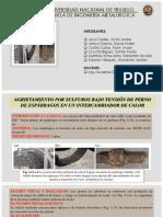 AGRIETAMIENTO POR SULFUROS BAJO TENSIÓN DE PERNO DE ESPÁRRAGOS EN UN INTERCAMBIADOR DE CALOR