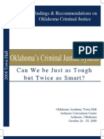 Ok Acad Criminal Justice Town Hall