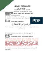 AMALAN MENOLAK Kejahatan Dan Kezaliman20111009