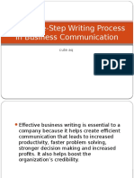 The Three-Step Writing Process in Business Communication