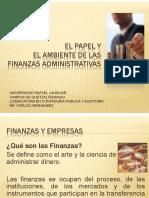 1 El Papel y El Ambiente de Las Finanzas Administrativas