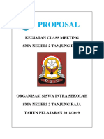 Proposal Class Meeting SMK PGRI 2018