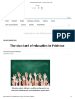 The standard of education in Pakistan - Daily Times.pdf