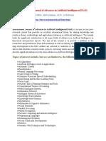 International Journal of Advances in Artificial Intelligence(IJAAI)