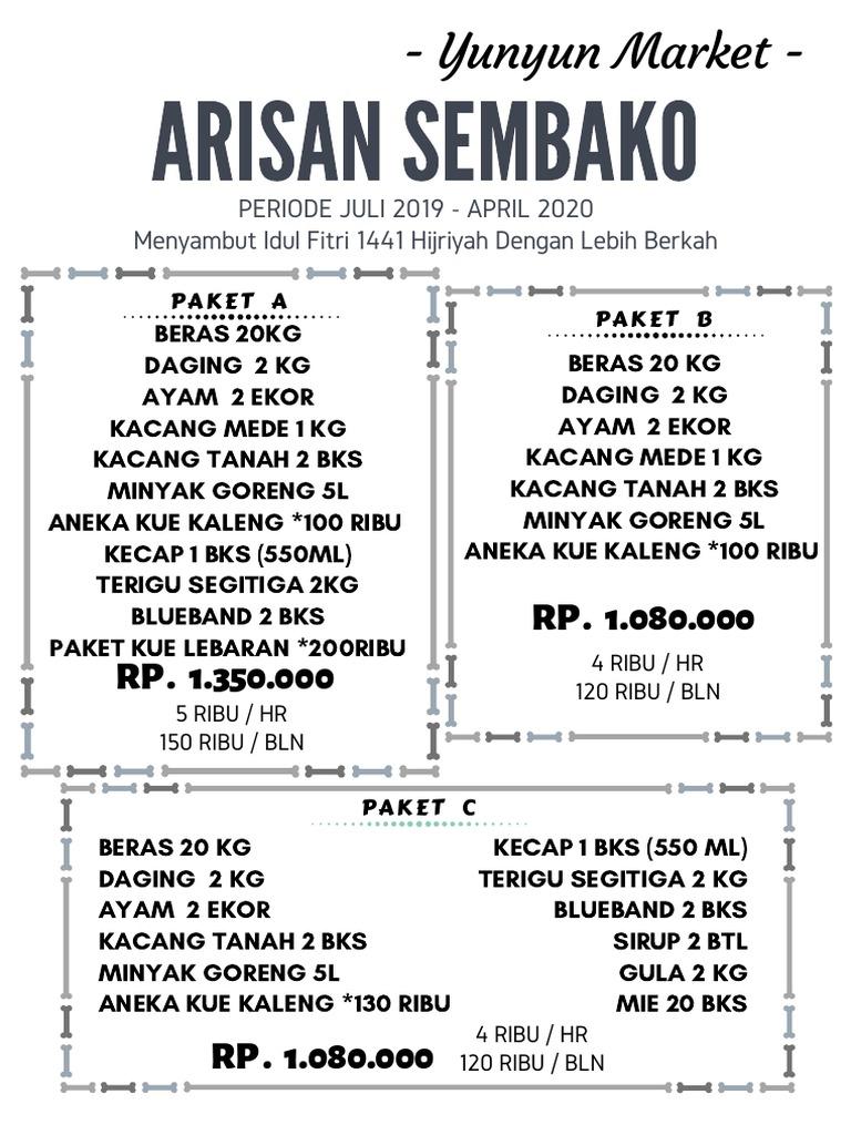 Contoh Brosur Arisan Sembako