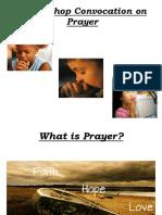 Convocation on Prayer Parson