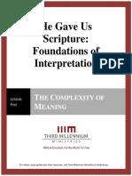 HeGaveUsScriptureFoundationsOfInterpretation.lesson5.Manuscript.english