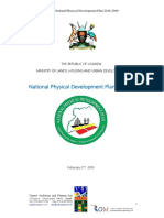 Uganda National Physical Development Plan 2018-2040