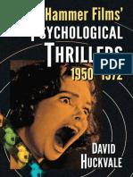 Hammer Films Psychological Thrillers.1950-1972