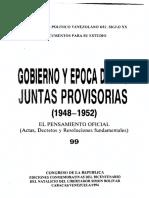 99 - Pensamiento oficial Juntas Provisorias 1948-1952 - Venezuela