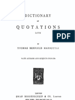 Dictionary of Quotations. Latin. by T.B. Harbottle