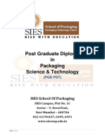 2 Years Full Time PG Diploma in Packaging Science and Technology