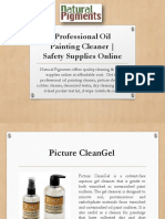 Safety Supplies Online | Professional Oil Painting Cleaner