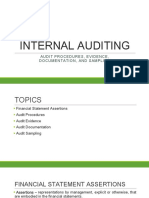Audit Procedures, Evidence, Documentation and Sampling