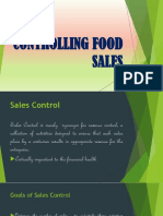 Controlling Food Sales New