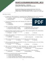 TLE LET set B questionnaire