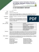 Aim 1 Advancement Report