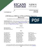 ATR Releases 2010 List for Minnesota