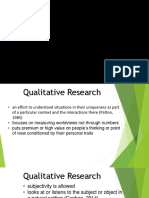 2.2 Characteristics and Types of Qualitative Research 1