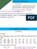 Chapter 3.5 Percentiles Deciles Quartiles