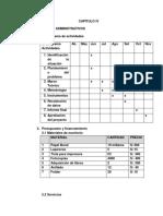 Julio 2019 - Cronograma y Presupuesto