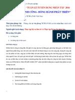 Cty TETRA PAK_Thông Tin Tuyển Dụng Thực Tập_ĐH SPKT TPHCM