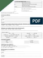 évaluation mathématiques période 1 CM1